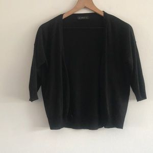 Zara Cropped Cardigan Button Down Size S